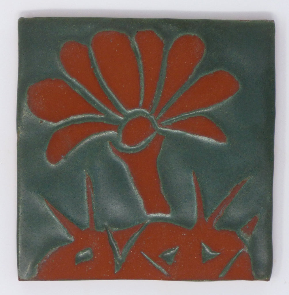 Cactus Blossom Tile - Clayworks Studio/Gallery