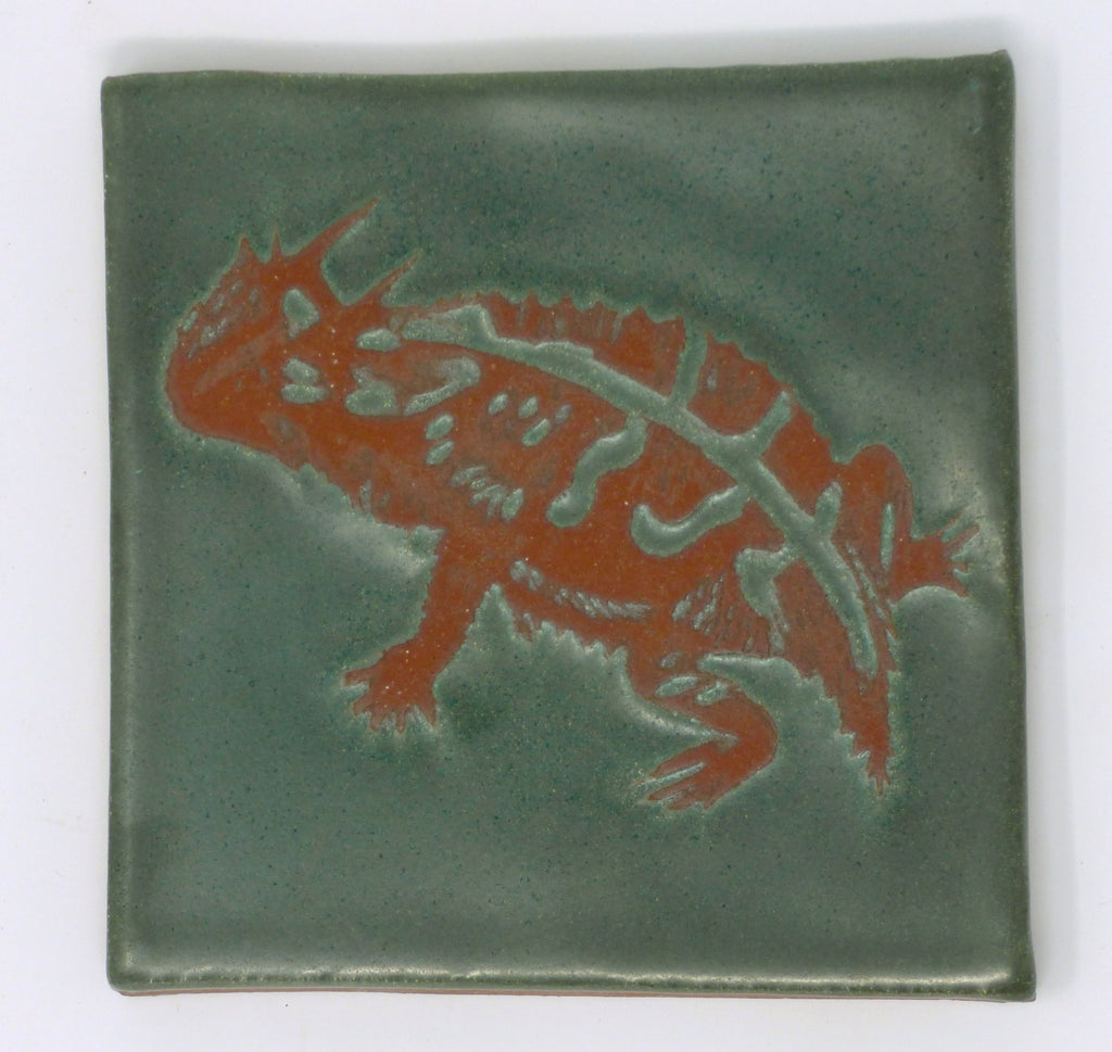 Horny Toad Critter Tile - Clayworks Studio/Gallery