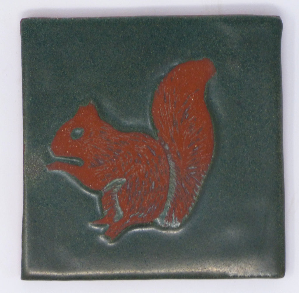 Squirrel Critter Tile - Clayworks Studio/Gallery