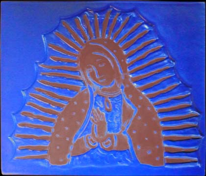 Our Lady of Guadalupe Accent Tile - Clayworks Studio/Gallery