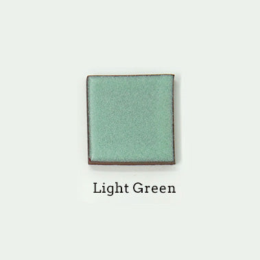 Light Green glaze sample for terra cotta wall sconces