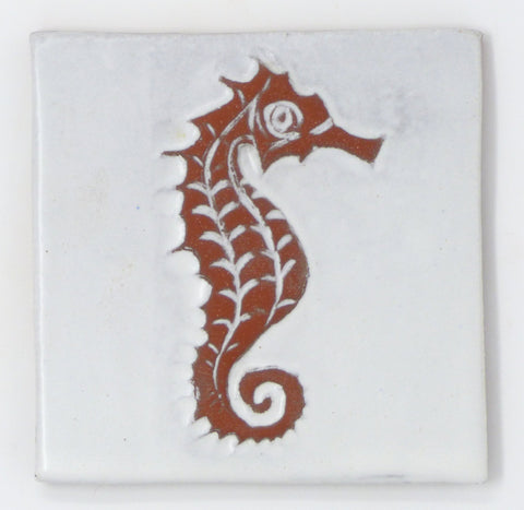 Seahorse Tile - Clayworks Studio/Gallery