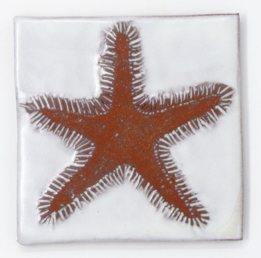 Starfish Tile - Clayworks Studio/Gallery