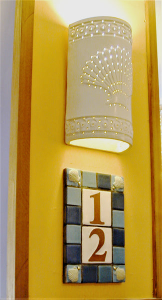 #314 Embossed Shell Sconce