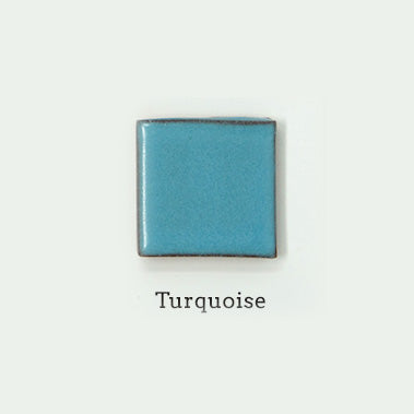 turquoise glaze sample for terra cotta wall sconces