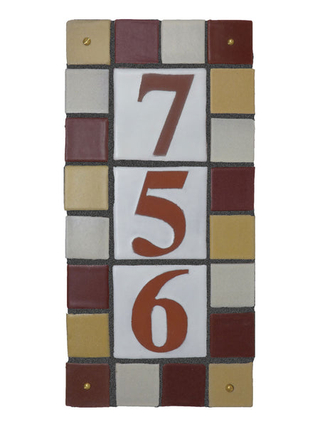Color Tones Multi-tile Address Plaques - Clayworks Studio/Gallery