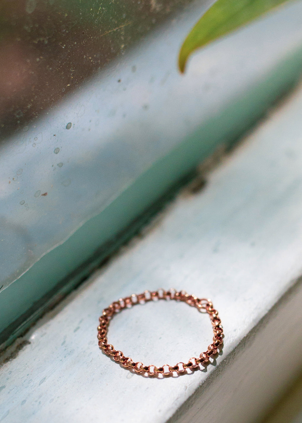 Disparate Youth Chain Ring rose gold Ashley Carson tarnish free jewelry ashleycarsondesigns.com