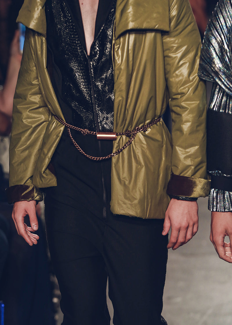 Hey Man, Nice Shot Belt Ashley Carson New York Paris Fashion Week Runway ashleycarsondesigns.com