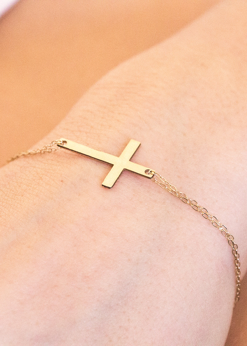 Heroes Bracelet Ashley Carson cross tarnish free jewelry gifts ashleycarsondesigns.com