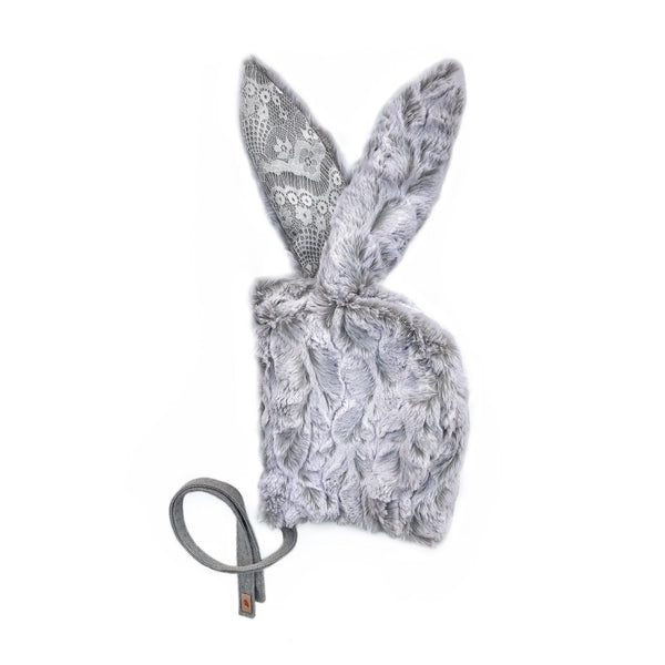 Frosted Grey with Lace Bunny