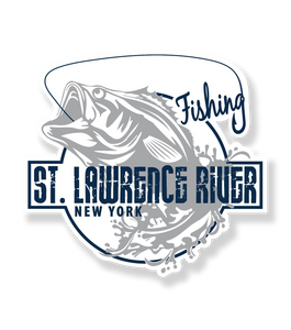 St. Lawrence River Fishing Vinyl Decal