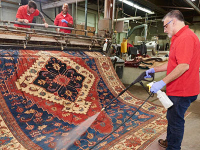 Spot Cleaning an Oriental Rug