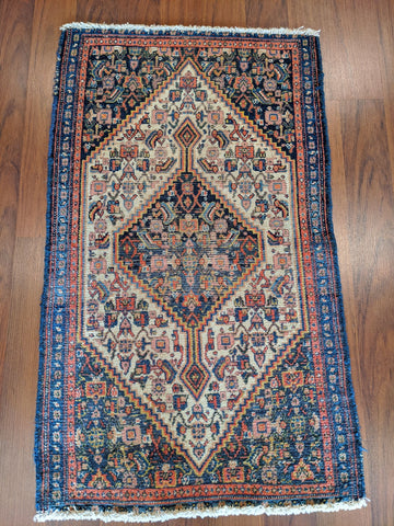Antique 1920's Persian Senneh 2x3