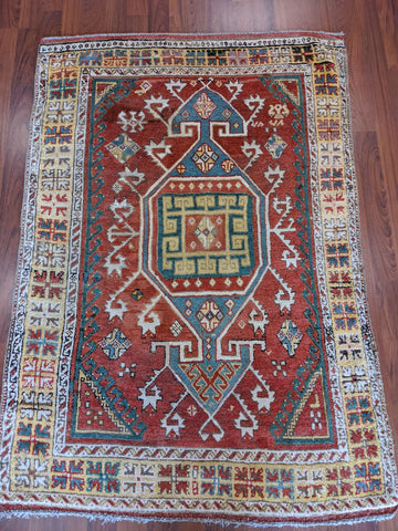 Antique Turkish Rug 4x6