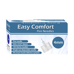 Easy Comfort Insulin Pen Needles 32G 4mm 100ct