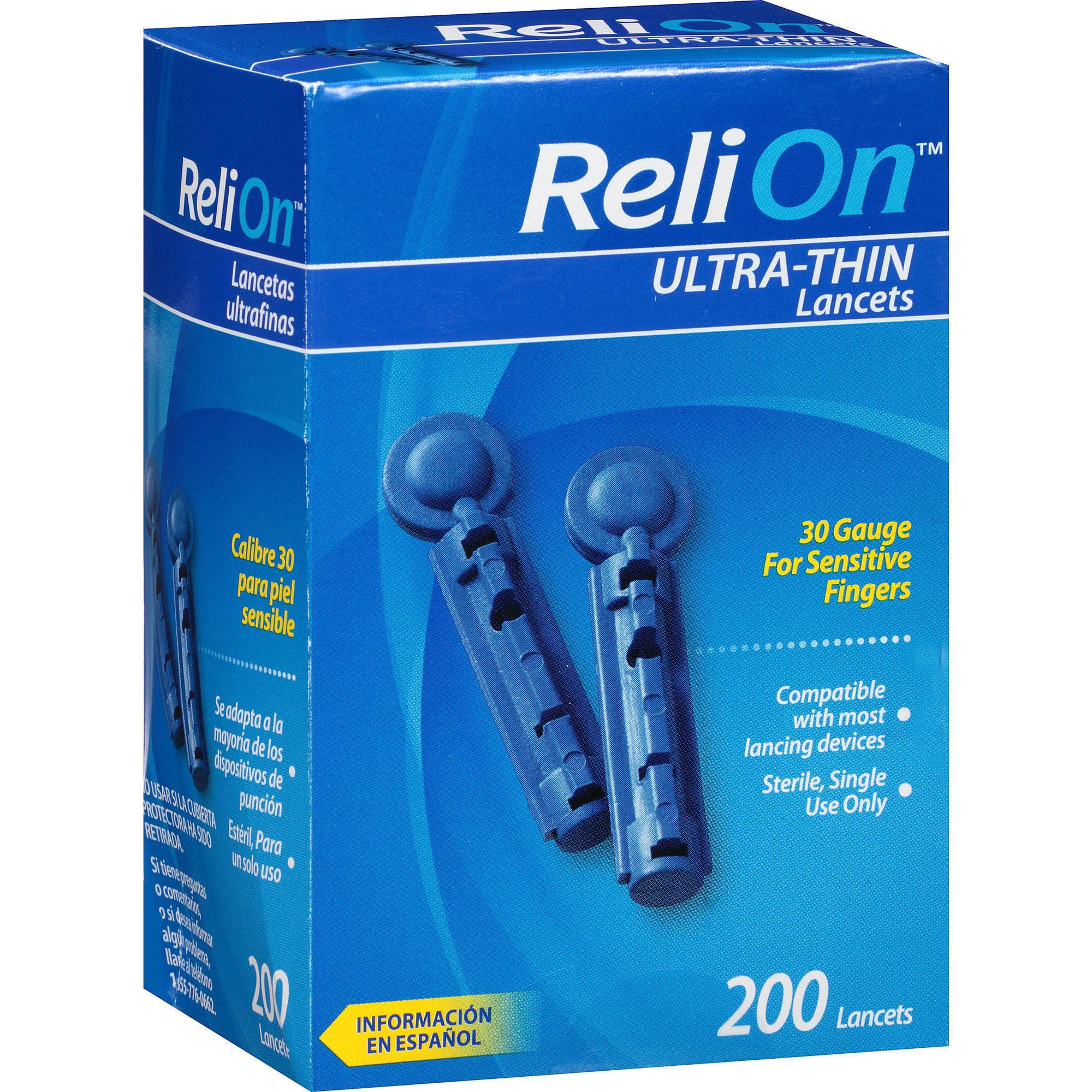 ReliOn Ultra-Thin Lancets 200ct