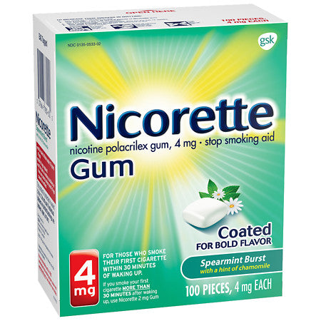 Nicorette Gum - 4mg - Spearmint Burst