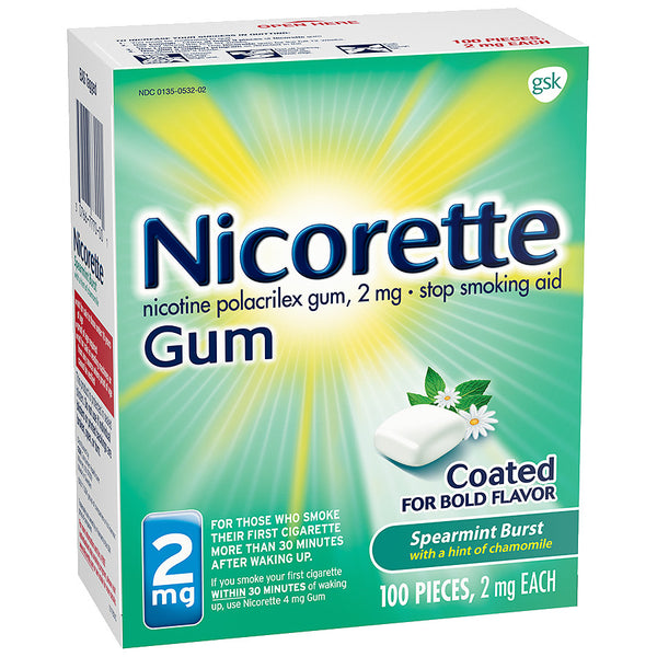 Nicorette Gum - 2mg - Spearmint Burst