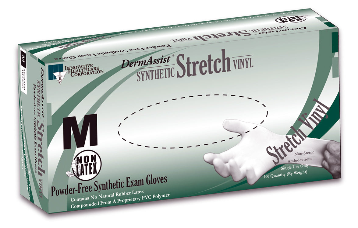 DermAssist Stretch Vinyl Exam Gloves - Series 162