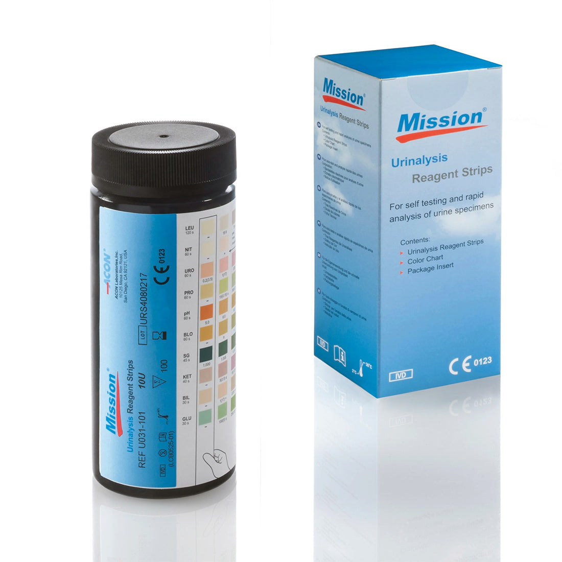 Mission Urinalysis Reagent Strips 100ct