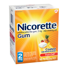 Nicorette Gum - 2mg - Fruit Chill - 160ct