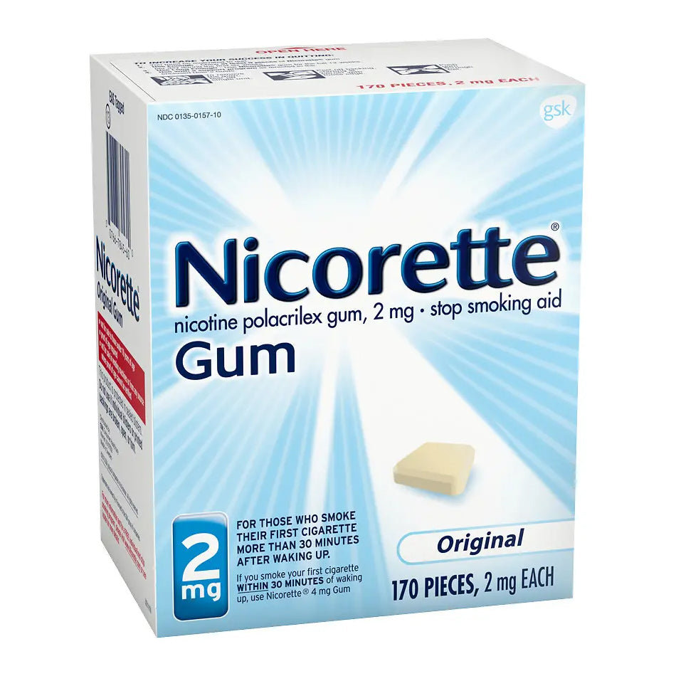 Nicorette Gum - 2mg - Original - 170 Pieces