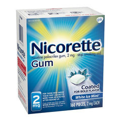 Nicorette Gum - 2mg - White Ice Mint 160ct