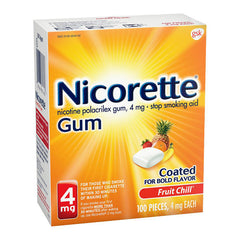 Nicorette Gum - 4mg - Fruit Chill 100ct