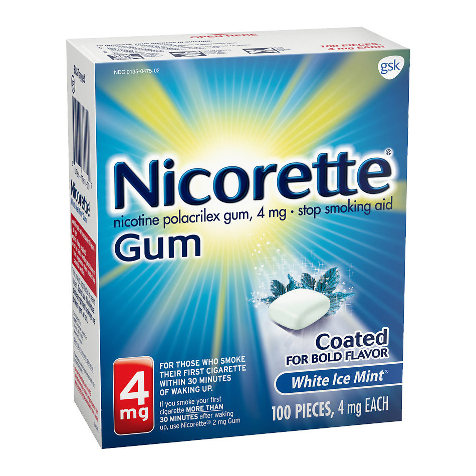 Nicorette Gum - 4mg - White Ice Mint 100ct