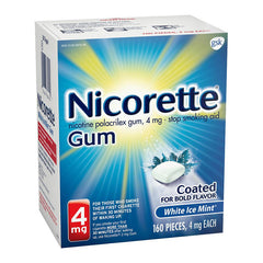 Nicorette Gum - 4mg - White Ice Mint 160ct