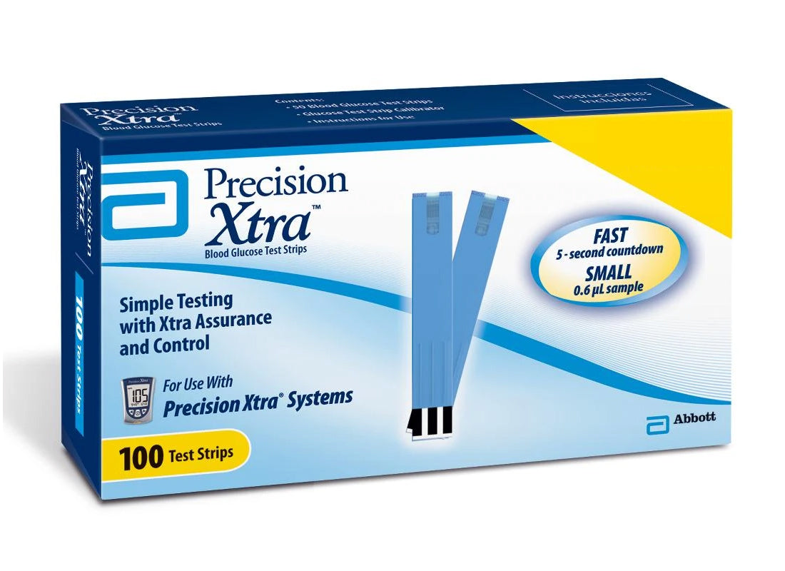 Precision Xtra Glucose Test Strips 100ct
