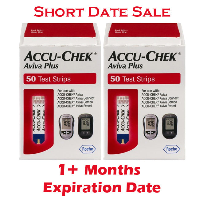 Accu-Chek Aviva Plus Test Strips 100ct - Short Dated - 1 Month