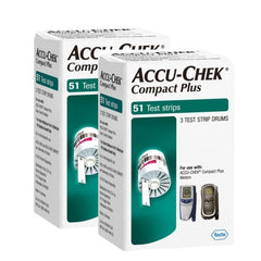 Compact Plus Test Strips 2 boxes of 51ct