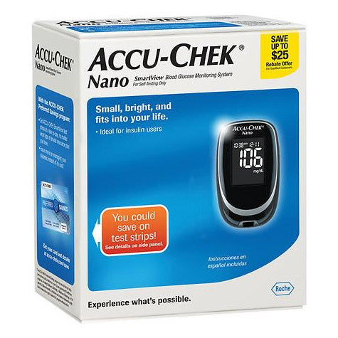 Accu Chek Nano Glucose Meter Kit Diabetic Warehouse