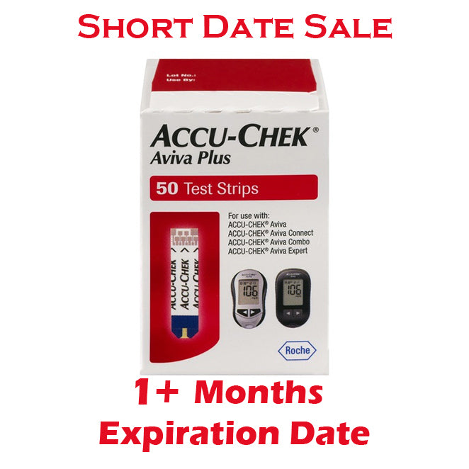 Accu-Chek Aviva Plus Test Strips 50ct - Short Dated - 1+ Month