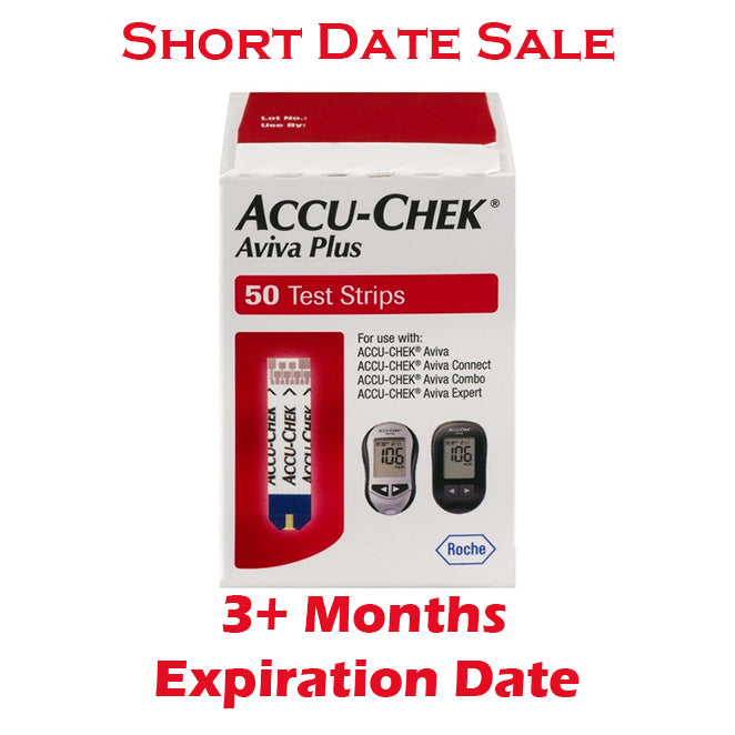 Accu-Chek Aviva Plus Test Strips 50ct - Short Dated