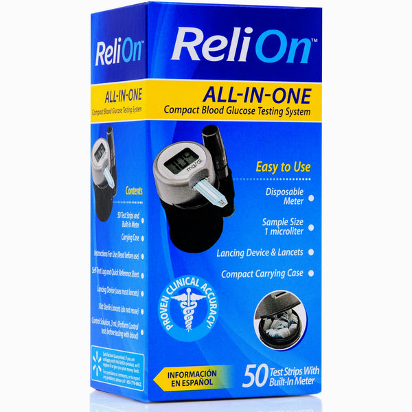 Relion All In One Blood Glucose Testing System Diabetic