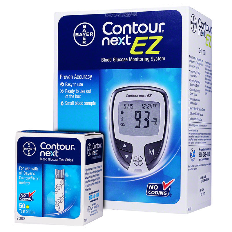 Bayer Contour Next EZ Meter Kit w/ 50 Test Strips