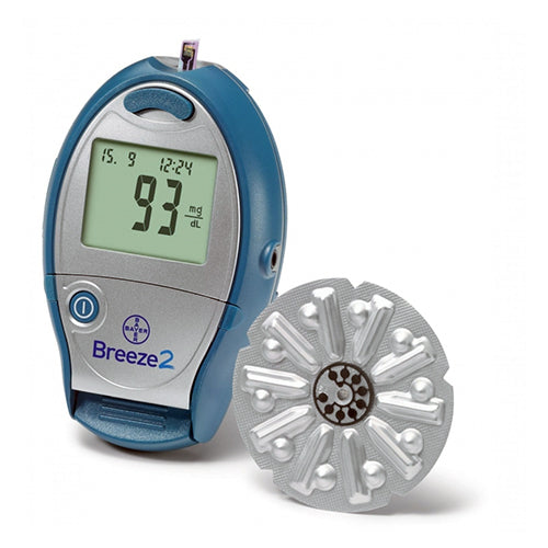 Bayer Breeze 2 Blood Glucose Meter Kit Diabetic Warehouse