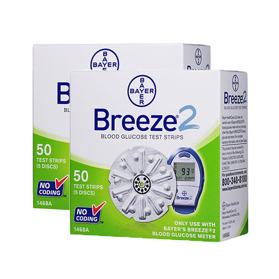 Bayer Breeze 2 Test Strips 100ct