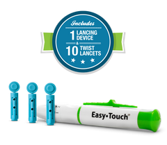 Easy Touch Lancing Device & Lancets