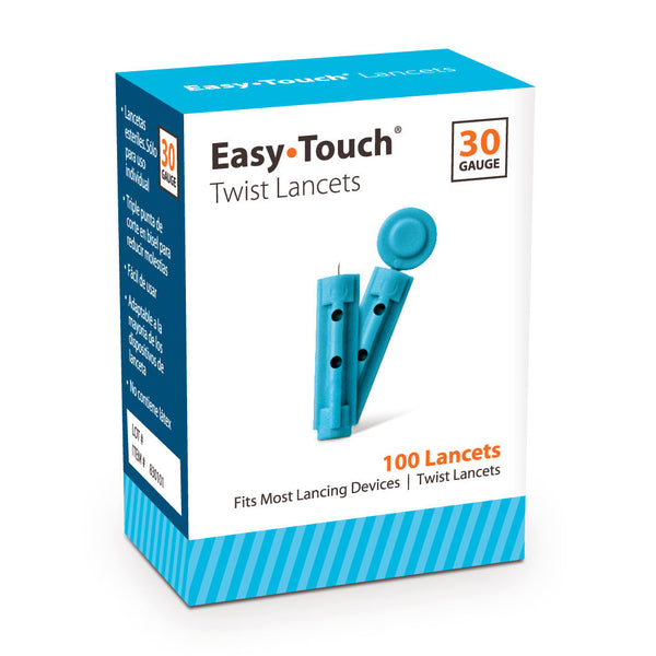 EasyTouch Universal Twist Lancets - 30G