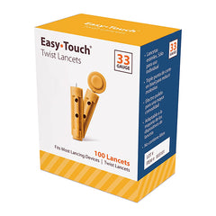 EasyTouch Universal Twist Lancets - 33G