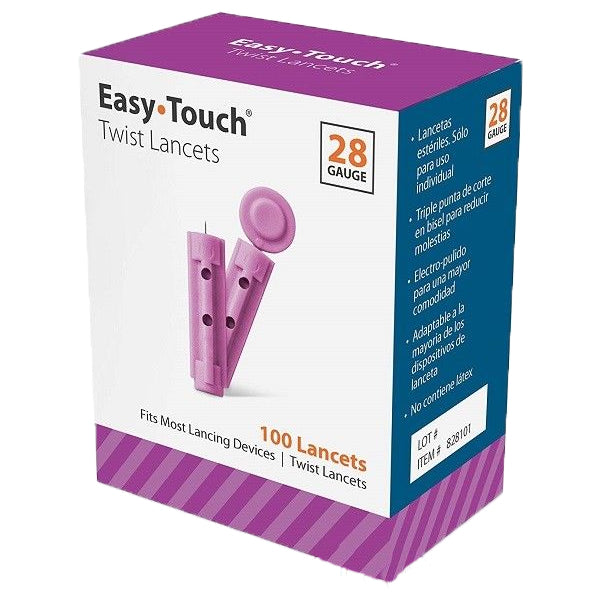 EasyTouch Universal Twist Lancets - 28G