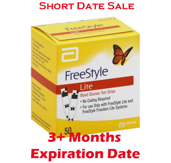 Freestyle Lite Test Strips 50ct - Short Dated