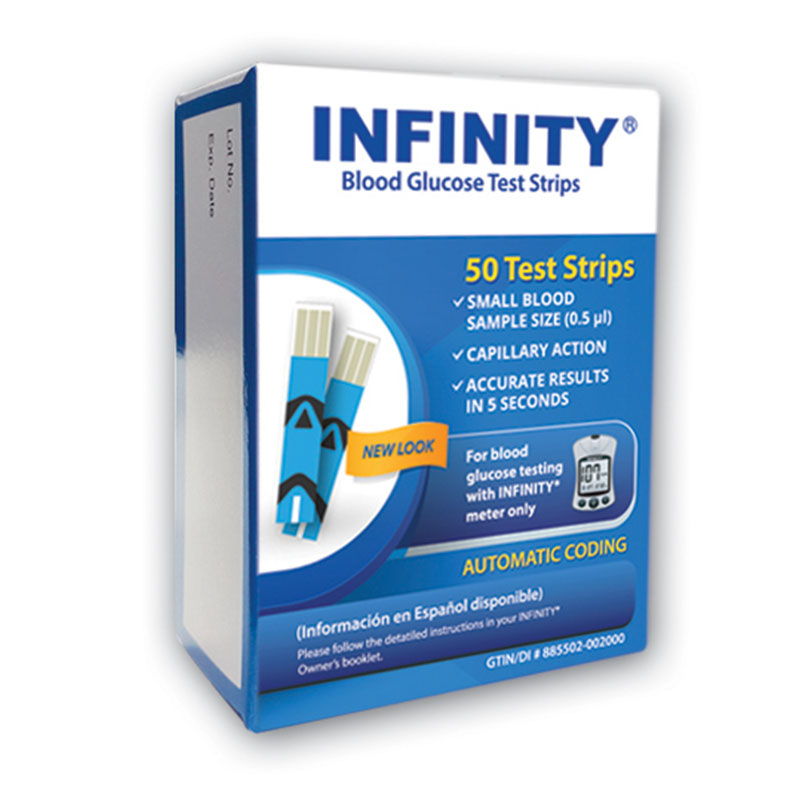 Infinity Glucose Test Strips 50ct