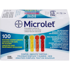 Bayer Color Microlet Lancets 100ct