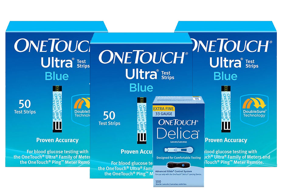 One Touch Ultra Test Strips 150ct with 100 FREE Lancets