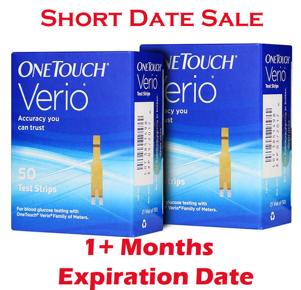 One Touch Verio Test Strips 100ct - Short Dated - 1 Month