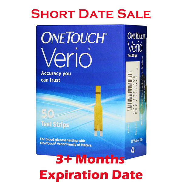 One Touch Verio Test Strips 50ct - Short Dated